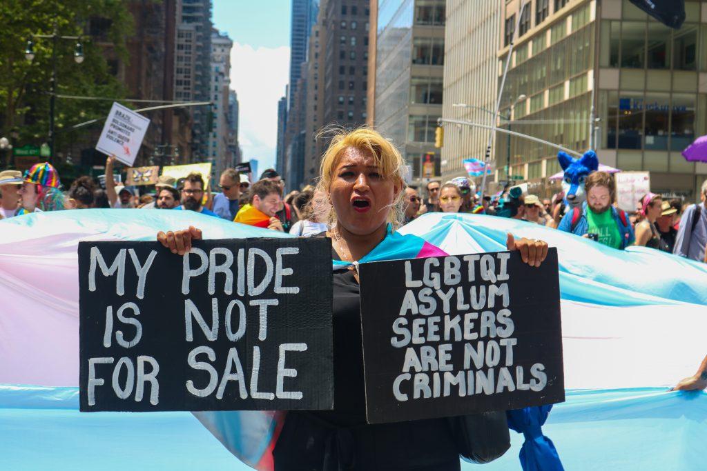foto uit 'Pride is Protest', docu voor Vranckx en de Nomaden